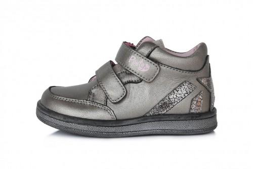 PONTE dětské perleťové supinované dívčí kotníkové boty na suchý zip 22-27