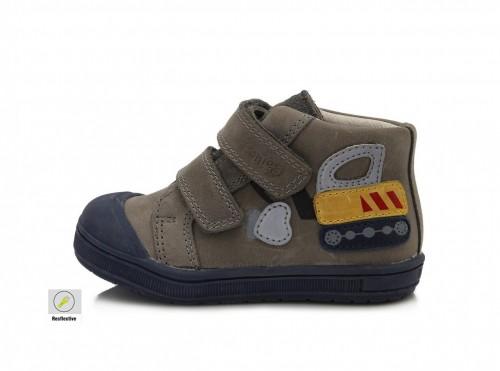 PONTE dětské šedé kotníkové supinované chlapecké boty na suchý zip 22-27