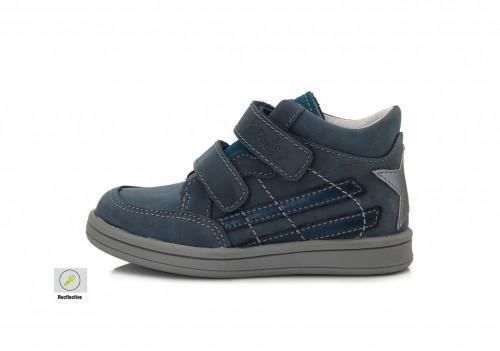 PONTE dětské modré kotníkové supinované chlapecké boty na suchý zip 22-27