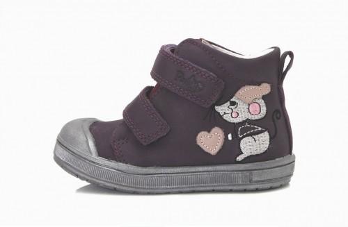 PONTE dětské fialové supinované dívčí kotníkové boty na suchý zip 22-27
