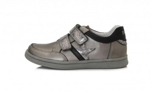 PONTE detské perleťové dievčenské topánky na suchý zips 28-33