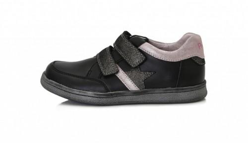 PONTE dětské černé supinované dívčí boty na suchý zip 28-33