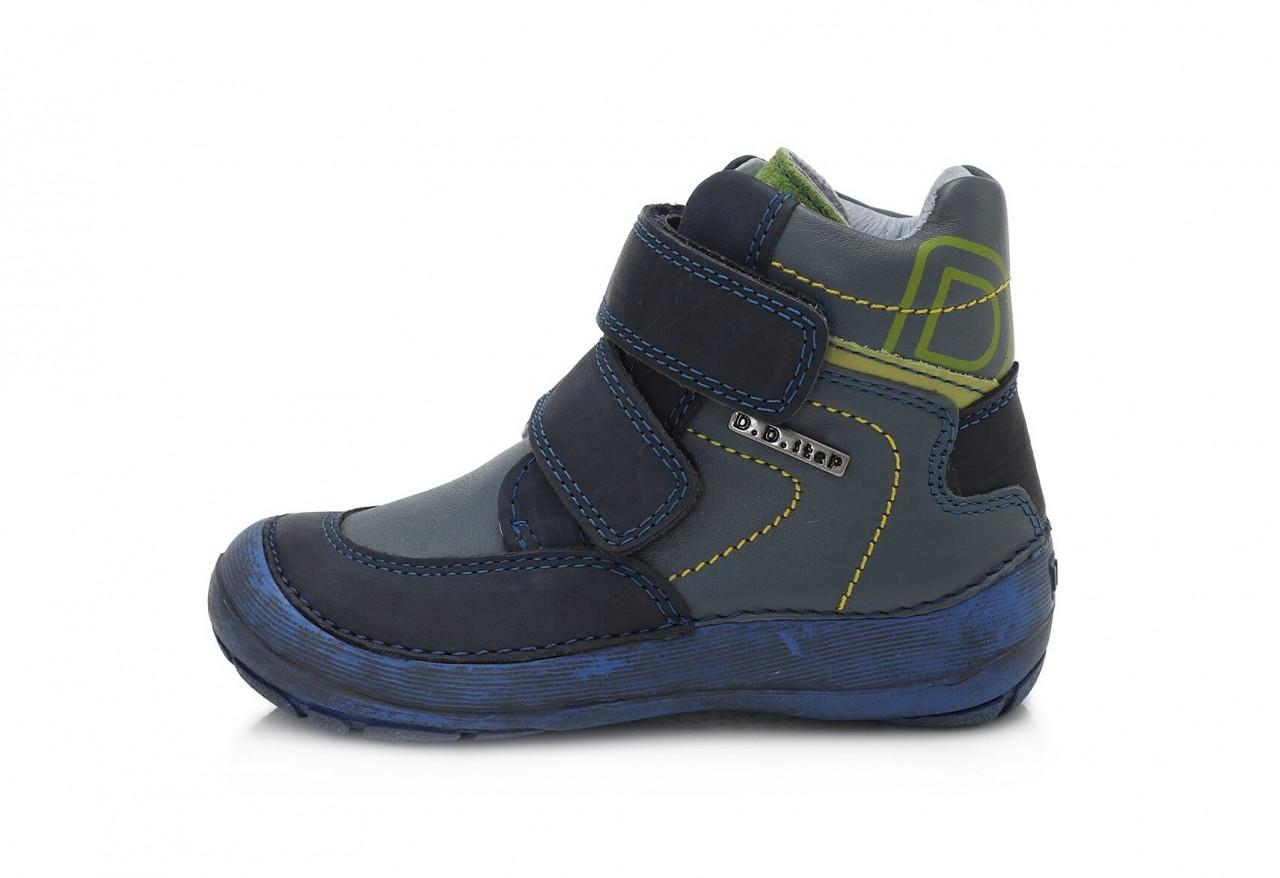 D.D.step modré chlapčenské kotníkové detské topánky na suchý zips 31-36