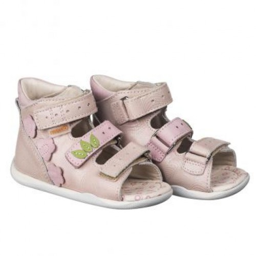MEMO DINO růžové dětské sandály pro holčičky 18-21