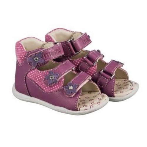 MEMO DORIS fialové detské sandále pre dievčatká 18-21