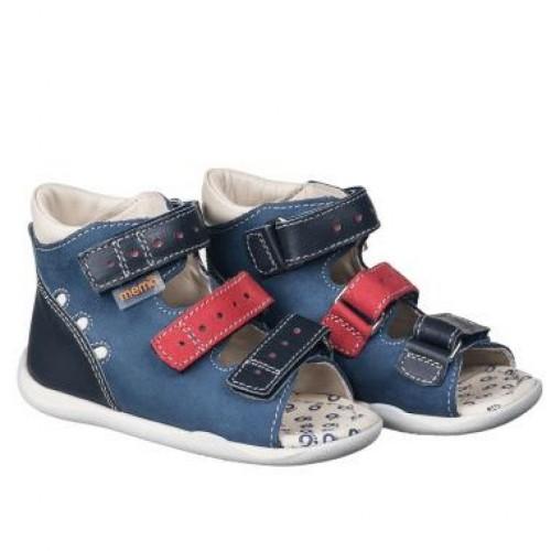 MEMO DINO modré detské sandále pre chlapcov 18-21