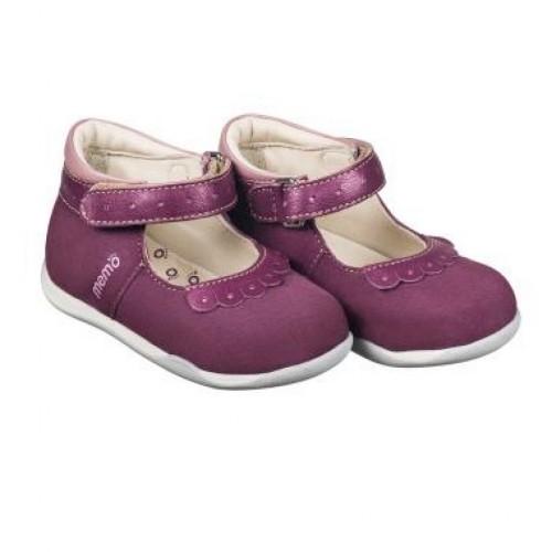 MEMO FIONA fialové dětské balerínky 18-21