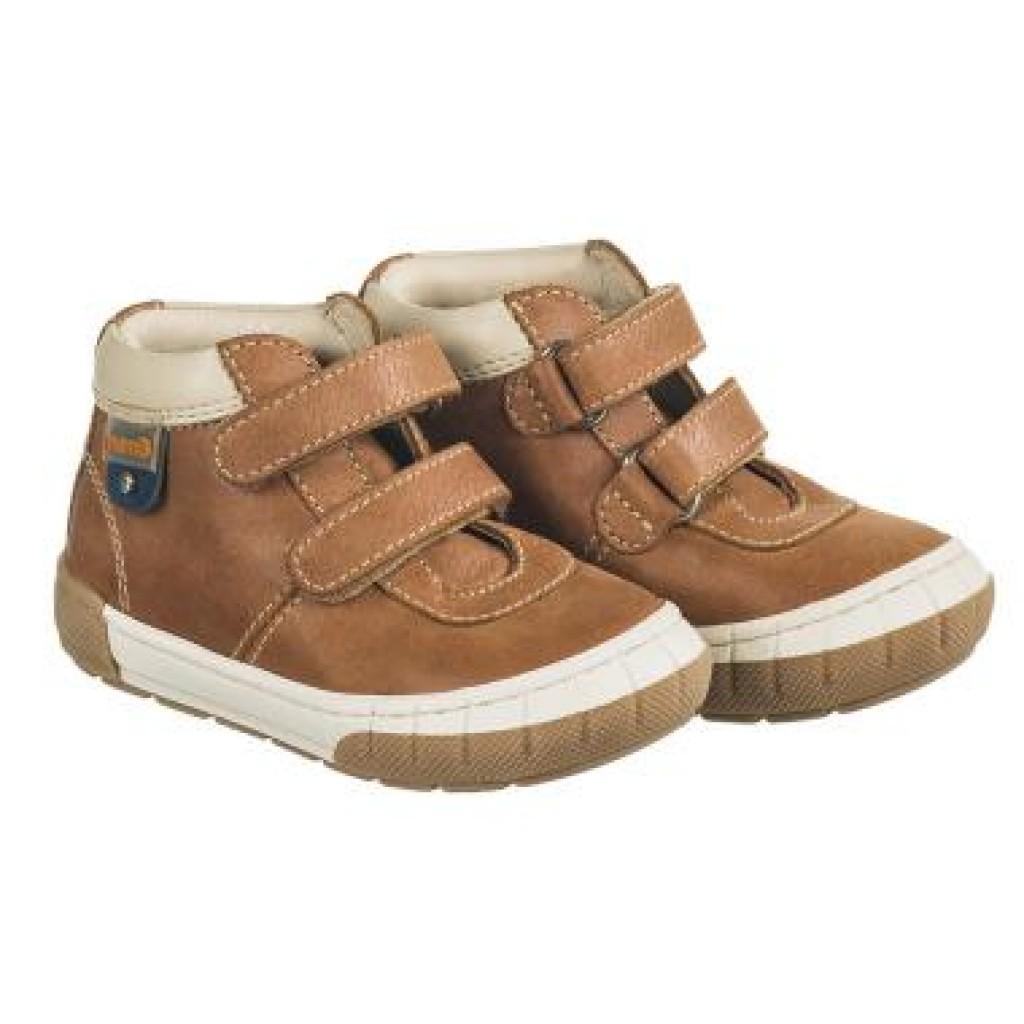 MEMO ALVIN hnědé chlapecké boty na suchý zip 19-21