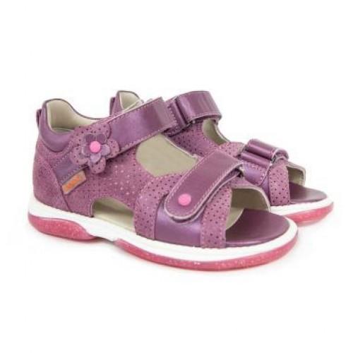 MEMO KRISTINA růžové dívčí supinované sandály 22-31