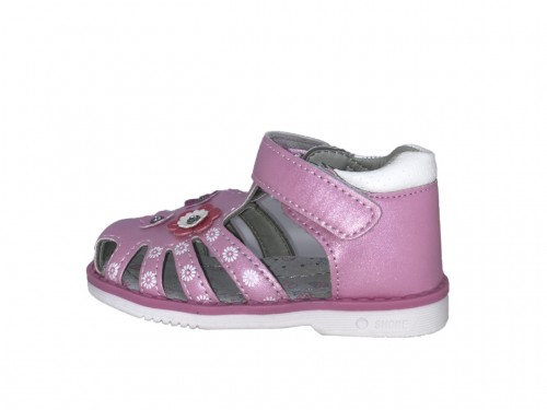 SUPYCOOL růžové kytičkové dětské sandály 21-26