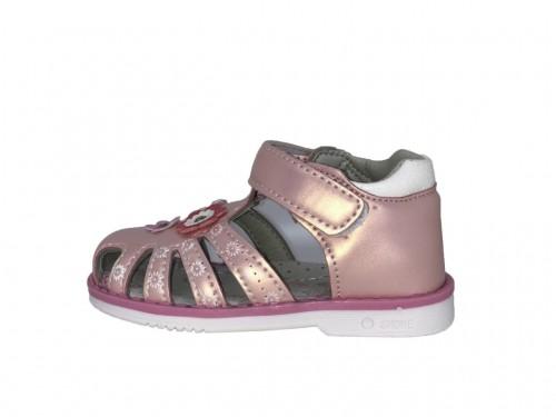SUPYCOOL bledě růžové kytičkové dětské sandály 21-26