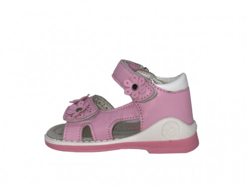 SUPYCOOL ružové detské sandále 21-26 s kvietkami