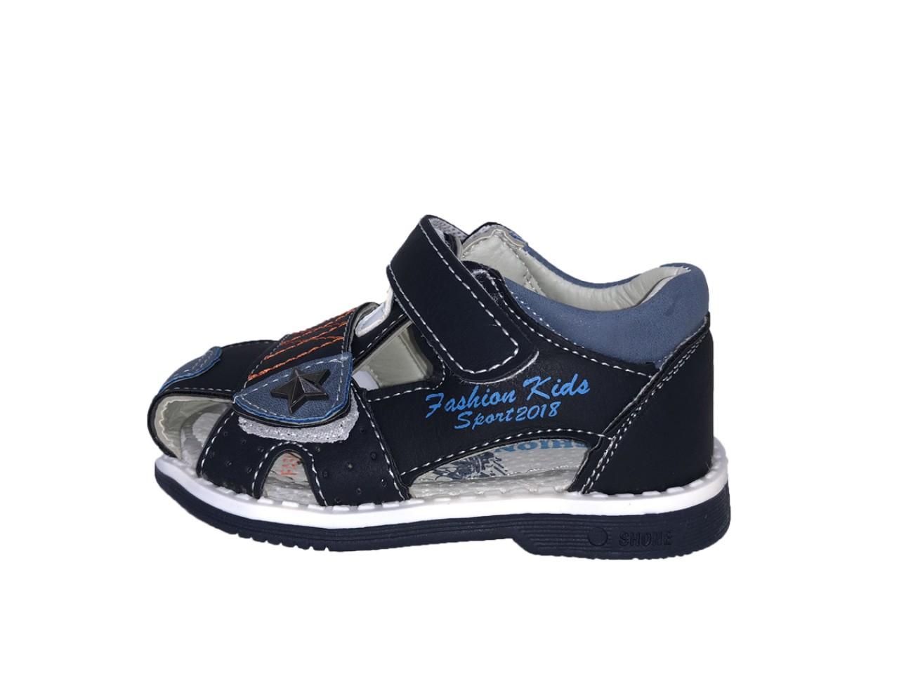 SUPYCOOL dětské sandály se suchým zipem modré pro chlapce 21-26