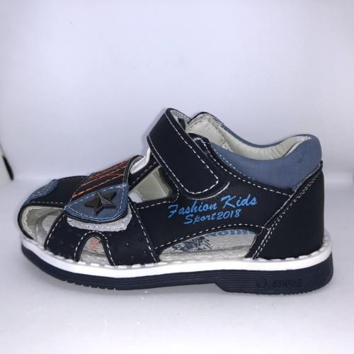 Dětské sandály se suchým zipem modré pro chlapce 21-26