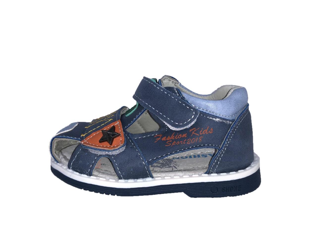 SUPYCOOL dětské sandály se suchým zipem bleděmodré pro chlapce 21-26