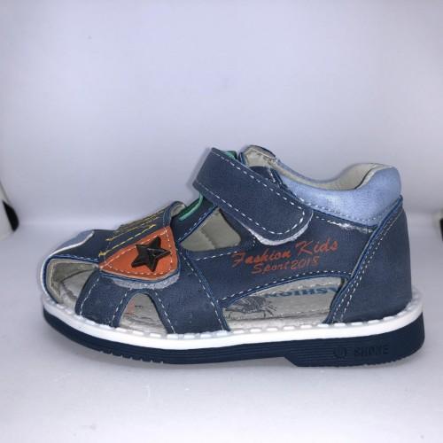 Dětské sandály se suchým zipem bleděmodré pro chlapce 21-26