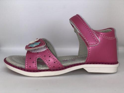 Dívčí cyklámenové dětské sandály 26-31