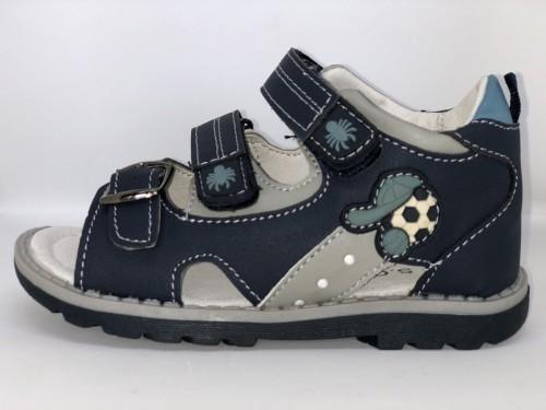 Dětské sandály se suchým zipem tmavomodré pro chlapce 25-30