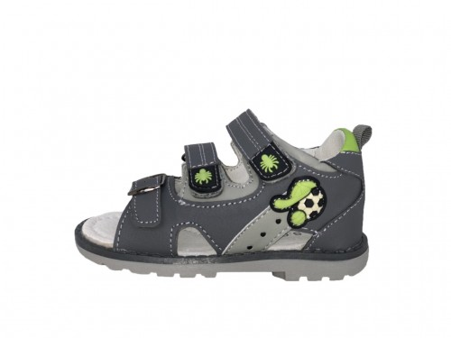 SUPYCOOL detské sandále so suchým zipsom sivé pre chlapcov 25-30