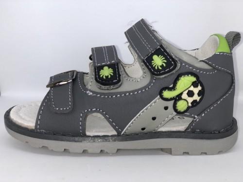 Dětské sandály se suchým zipem šedé pro chlapce 25-30