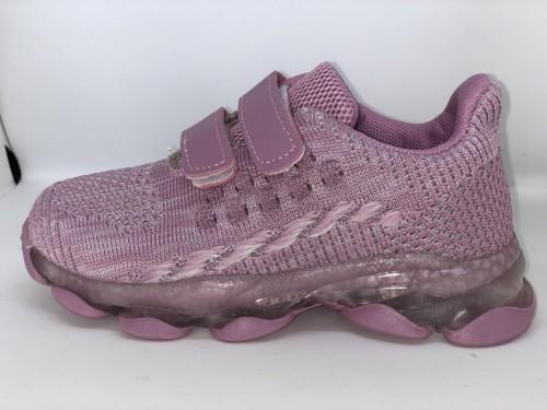 Dětské dívčí fialové plátěné boty se suchým zipem 26-31