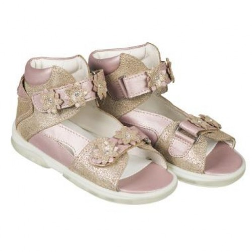 MEMO MONACO zlaté dievčenské detské supinované sandále 22-31