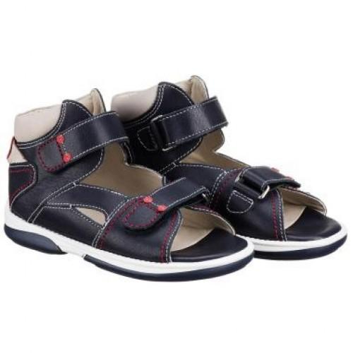 MEMO MONACO modré indigo chlapčenské detské supinované sandále 22-31