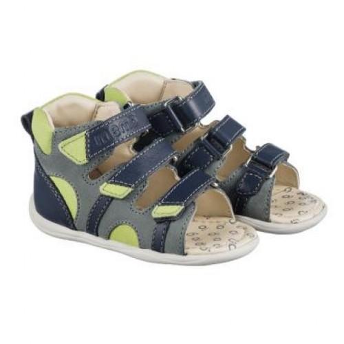 MEMO DIEGO modré detské sandále pre chlapcov 18-21