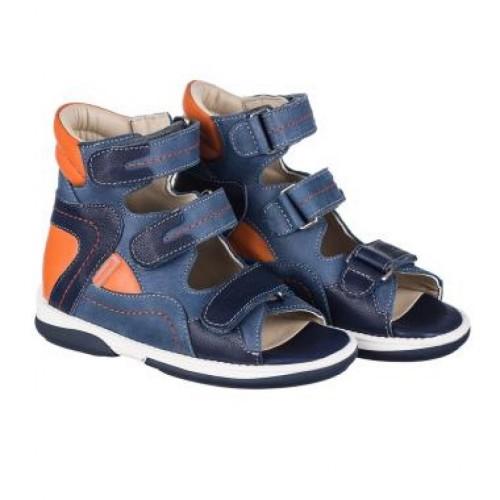 MEMO MICHAEL modré chlapčenské detské supinované sandále 22-31