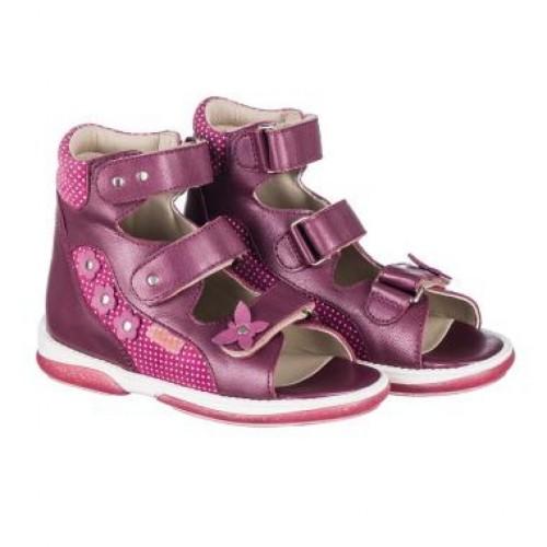 MEMO AGNES fialové dievčenské supinované sandále 22-31