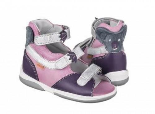 MEMO KOALA fialové dievčenské supinované sandále 22-26