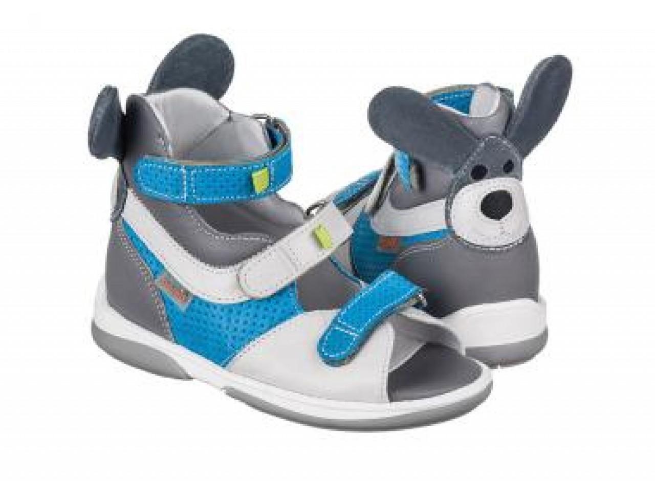 MEMO KENGURU modré chlapčenské detské supinované sandále 22-26
