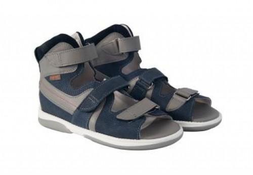 MEMO HERMES tmavomodré chlapčenské detské supinované sandále 30-38