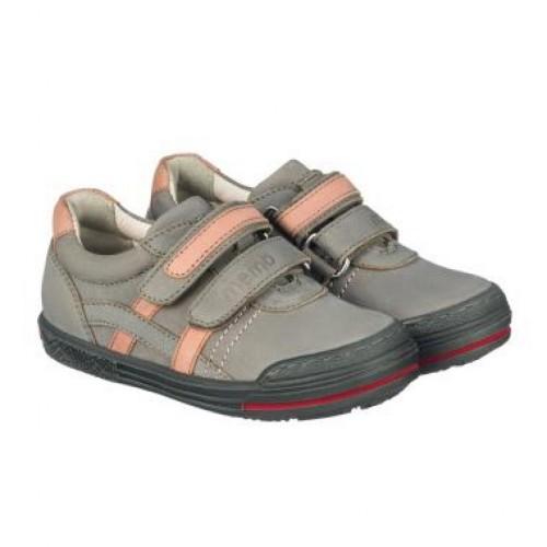 MEMO RIO sivo-ružové dievčenské nízke topánky na suchý zips 26-35