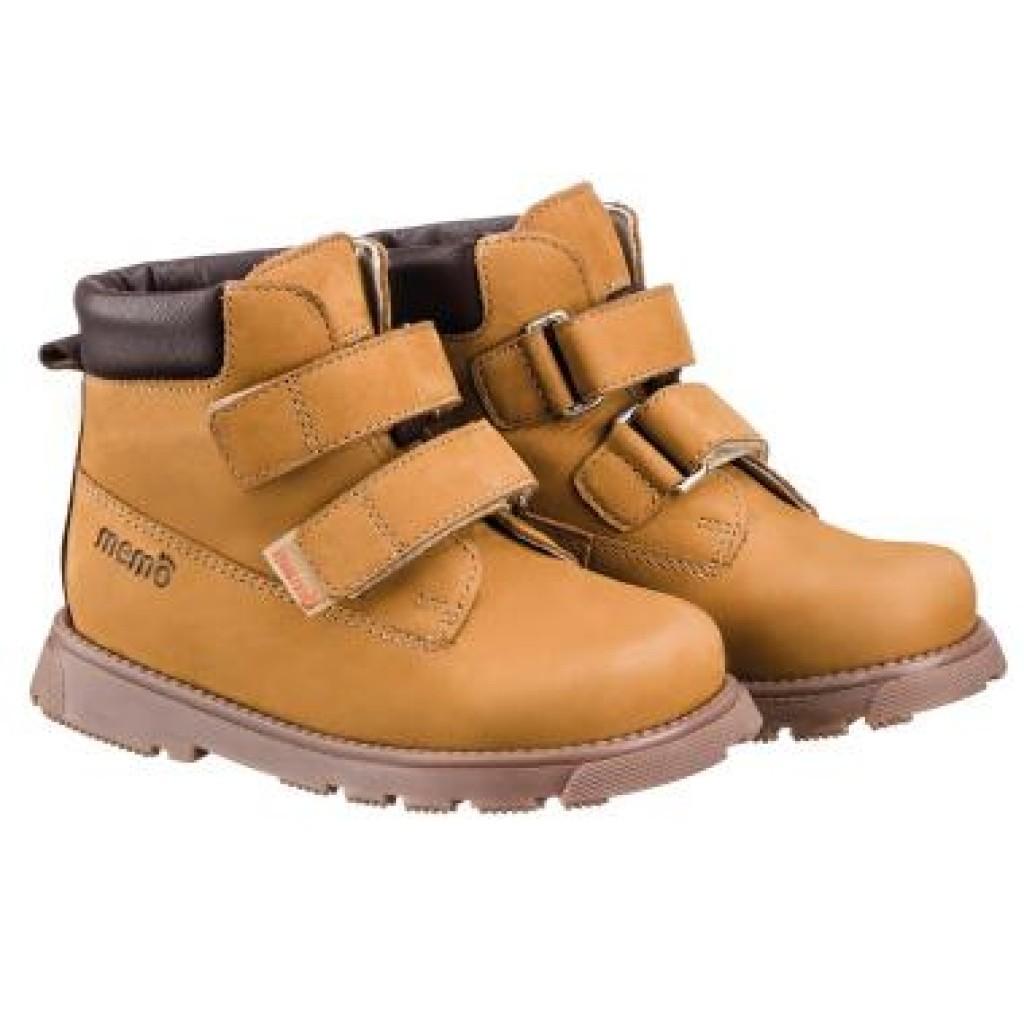 MEMO MALMÖ béžové chlapčenské supinované topánky na suchý zips 22-34