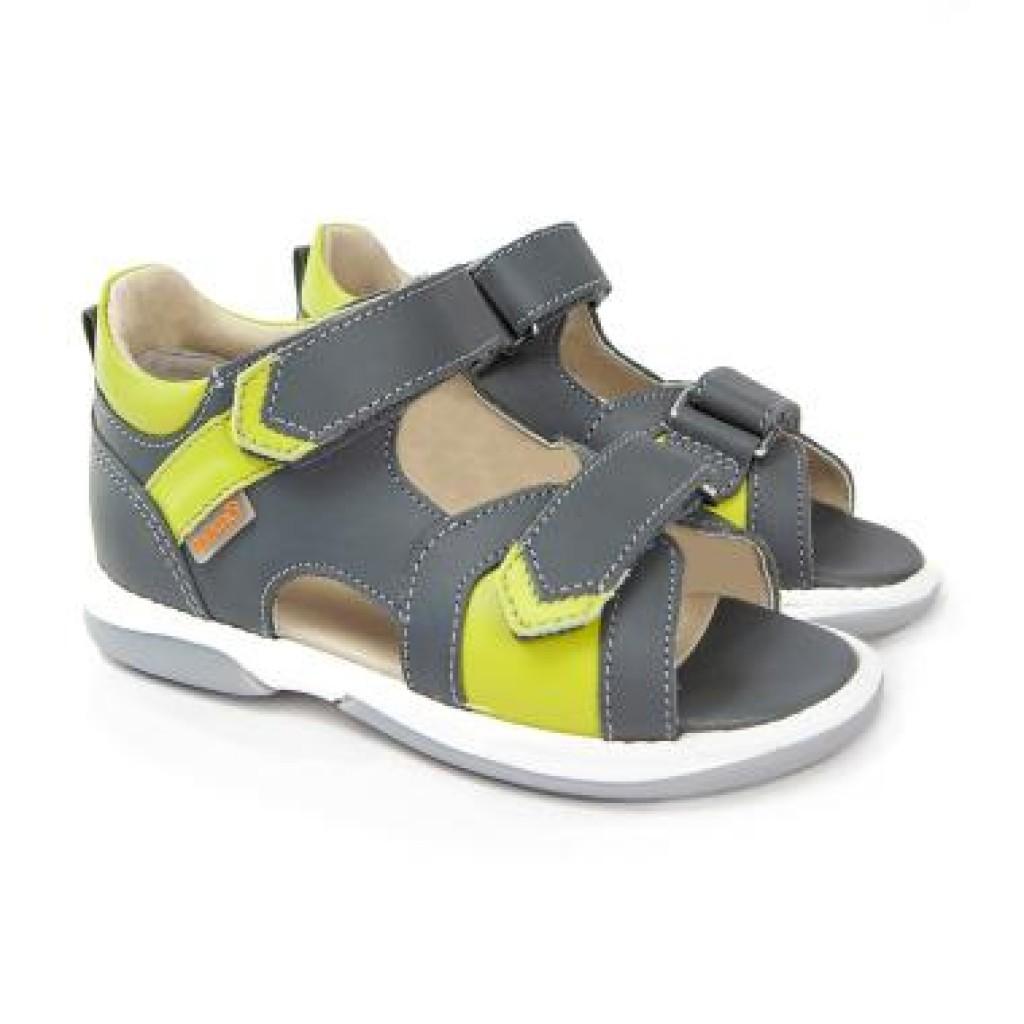 MEMO KRIS sivé chlapčenské detské supinované sandále 22-31