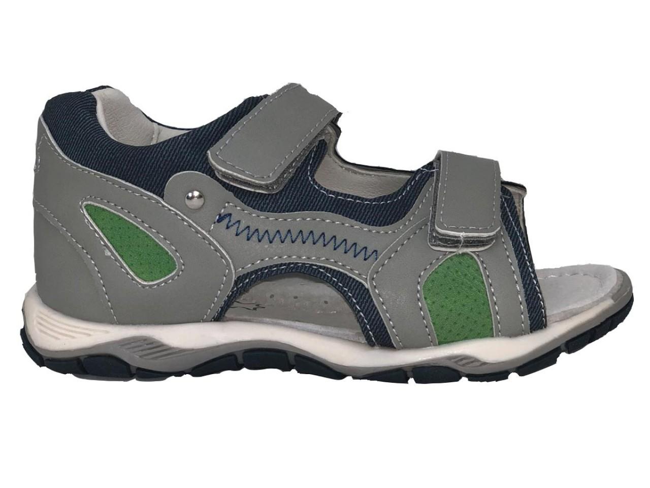 SUPYCOOL detské sandále so suchým zipsom sivé pre chlapcov 31-36