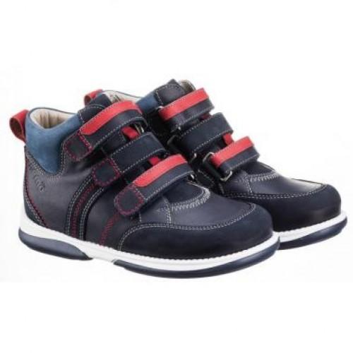 MEMO POLO Junior modré chlapčenské supinované topánky na suchý zips 22-31