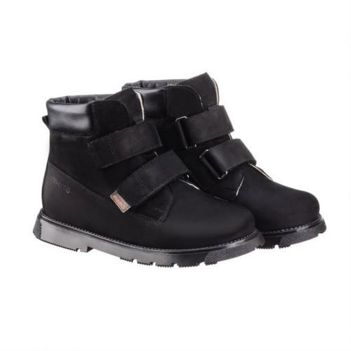 MEMO MALMÖ čierne unisex supinované topánky na suchý zips 30-34