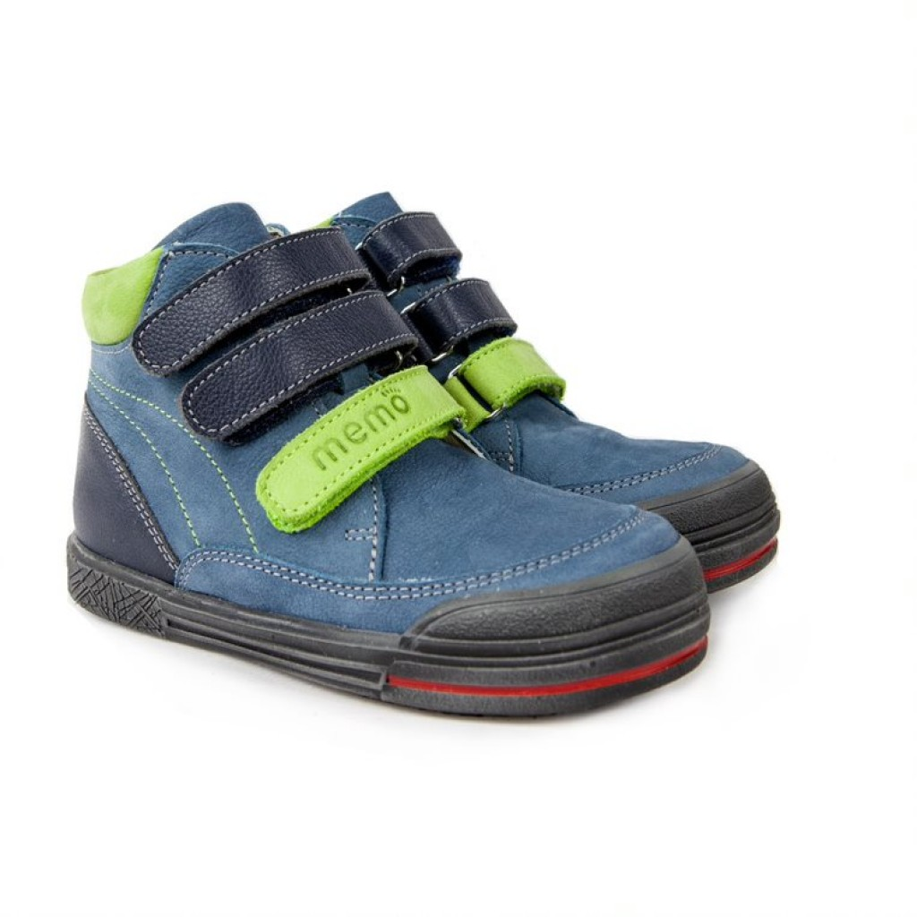 MEMO CHICAGO modré chlapčenské topánky na suchý zips 26-36