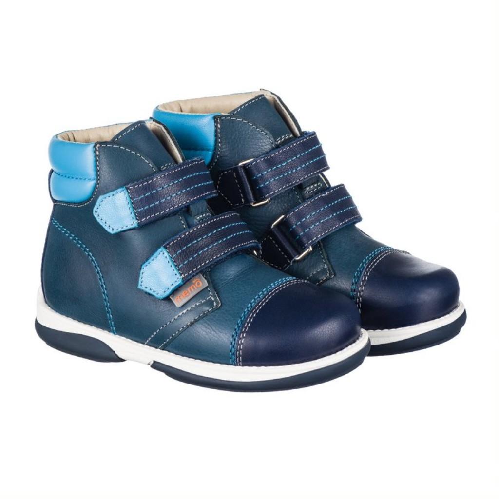 MEMO ALEX modré chlapčenské supinované topánky na suchý zips 22-31