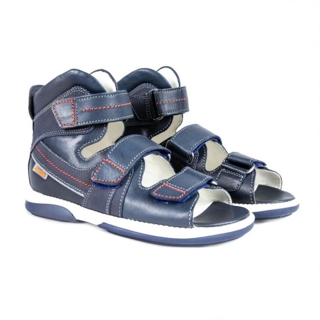 MEMO HERMES modré chlapčenské detské supinované sandále 30-38