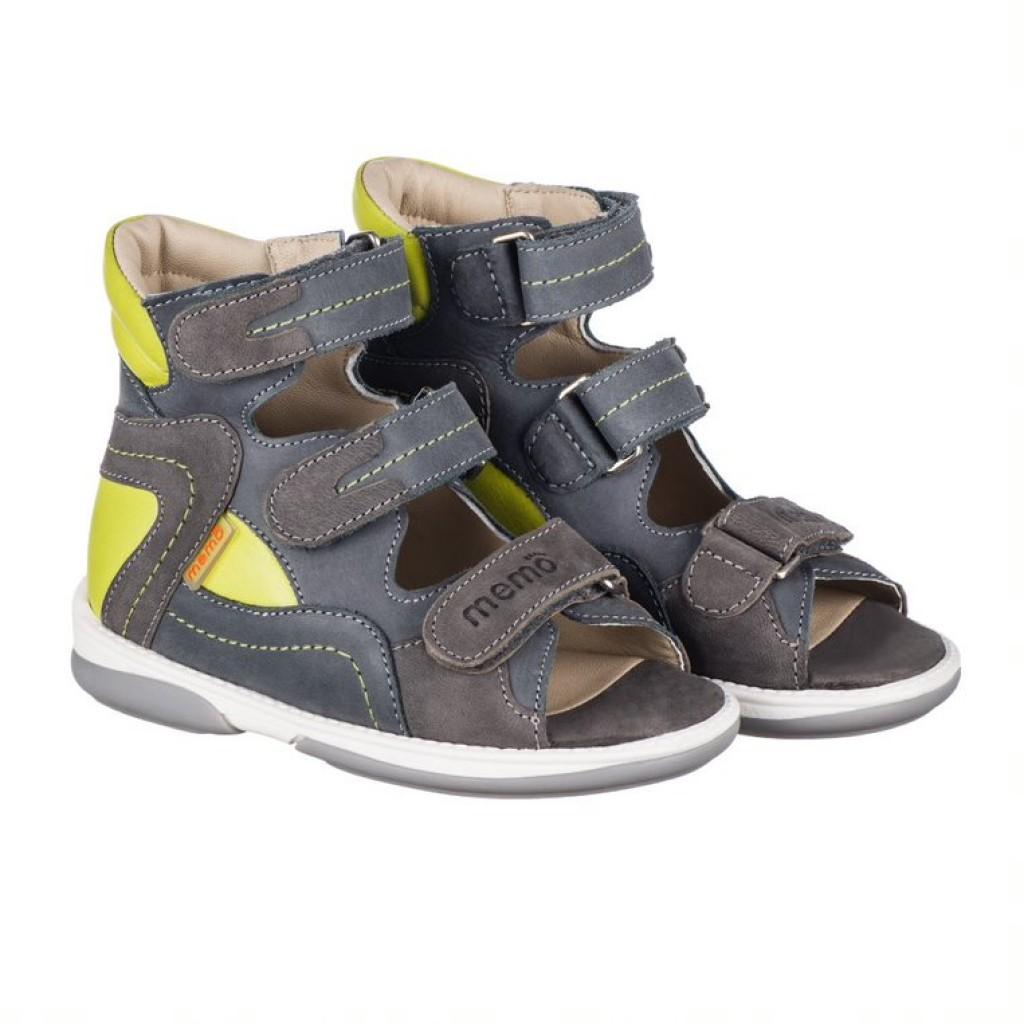 MEMO MICHAEL sivo-hnedé chlapčenské detské supinované sandále 22-31