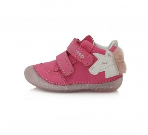 D.D.STEP rózsaszín lány tépőzáras gyerekcipő 19-24