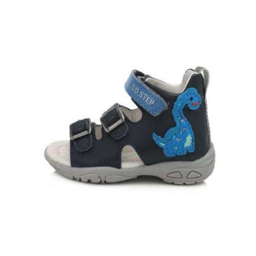 D.D.Step chlapčenské modré detské sandále 19-24 s LED osvetlením