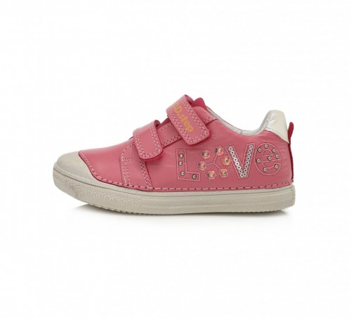D.D.step ružovo dievčenské detské topánky na suchý zips 25-30