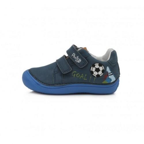 PONTE modré supinované detské chlapčenské topánky so suchým zipsom 24-29