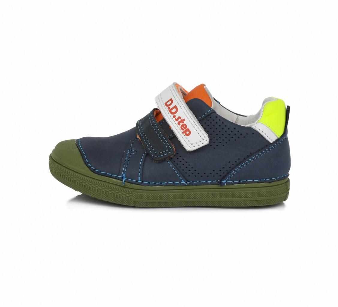 D.D.step modré chlapčenské detské topánky na suchý zips 25-30
