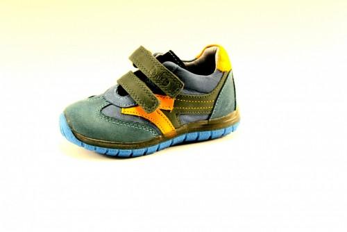 PONTE modré supinované detské chlapčenské topánky so suchým zipsom 22-27