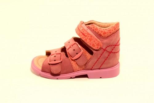 Supykids MILLA dievčenské supinované detské sandále ružové 23-27